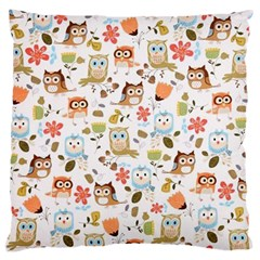 Cute Owl Large Cushion Case (two Sides)