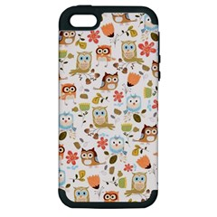 Cute Owl Apple Iphone 5 Hardshell Case (pc+silicone)