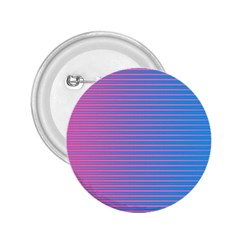 Turquoise Pink Stripe Light Blue 2.25  Buttons