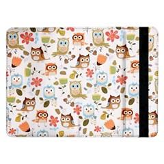 Cute Owl Samsung Galaxy Tab Pro 12 2  Flip Case