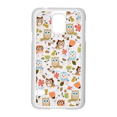 Cute Owl Samsung Galaxy S5 Case (White)