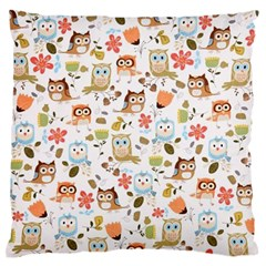 Cute Owl Standard Flano Cushion Case (two Sides)