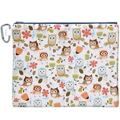 Cute Owl Canvas Cosmetic Bag (XXXL)