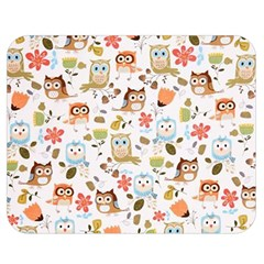 Cute Owl Double Sided Flano Blanket (Medium)