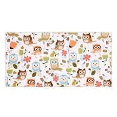 Cute Owl Satin Shawl