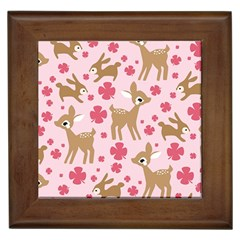 Preety Deer Cute Framed Tiles