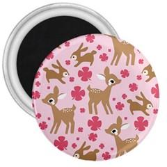 Preety Deer Cute 3  Magnets
