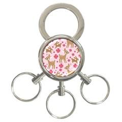 Preety Deer Cute 3-Ring Key Chains