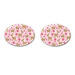 Preety Deer Cute Cufflinks (oval)