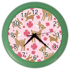Preety Deer Cute Color Wall Clocks