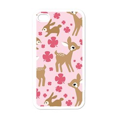 Preety Deer Cute Apple iPhone 4 Case (White)