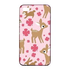 Preety Deer Cute Apple iPhone 4/4s Seamless Case (Black)