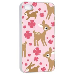Preety Deer Cute Apple Iphone 4/4s Seamless Case (white)
