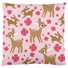 Preety Deer Cute Large Cushion Case (Two Sides)