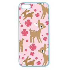 Preety Deer Cute Apple Seamless Iphone 5 Case (color)