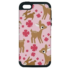 Preety Deer Cute Apple iPhone 5 Hardshell Case (PC+Silicone)