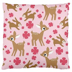 Preety Deer Cute Large Flano Cushion Case (two Sides)