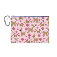 Preety Deer Cute Canvas Cosmetic Bag (M)
