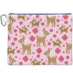 Preety Deer Cute Canvas Cosmetic Bag (XXXL)
