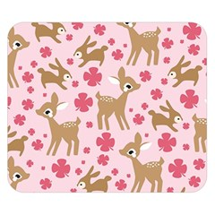 Preety Deer Cute Double Sided Flano Blanket (Small)
