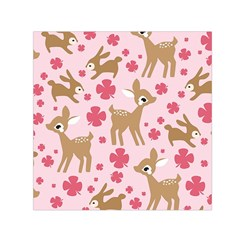 Preety Deer Cute Small Satin Scarf (square)