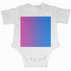 Turquoise Pink Stripe Light Blue Infant Creepers