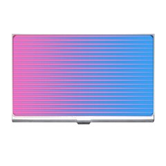 Turquoise Pink Stripe Light Blue Business Card Holders