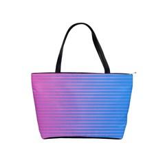 Turquoise Pink Stripe Light Blue Shoulder Handbags