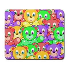 Cute Cartoon Crowd Of Colourful Kids Bears Large Mousepads