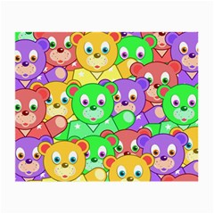 Cute Cartoon Crowd Of Colourful Kids Bears Small Glasses Cloth