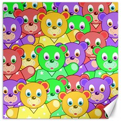 Cute Cartoon Crowd Of Colourful Kids Bears Canvas 20  x 20