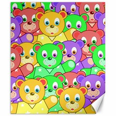 Cute Cartoon Crowd Of Colourful Kids Bears Canvas 20  x 24