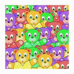 Cute Cartoon Crowd Of Colourful Kids Bears Medium Glasses Cloth (2-Side)