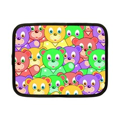 Cute Cartoon Crowd Of Colourful Kids Bears Netbook Case (Small)