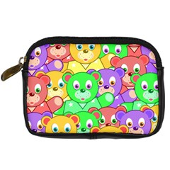 Cute Cartoon Crowd Of Colourful Kids Bears Digital Camera Cases