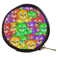 Cute Cartoon Crowd Of Colourful Kids Bears Mini Makeup Bags