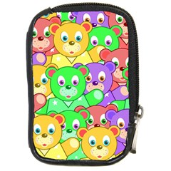 Cute Cartoon Crowd Of Colourful Kids Bears Compact Camera Cases