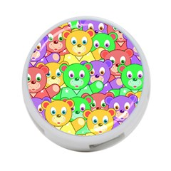 Cute Cartoon Crowd Of Colourful Kids Bears 4-Port USB Hub (Two Sides)