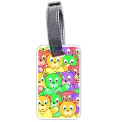 Cute Cartoon Crowd Of Colourful Kids Bears Luggage Tags (Two Sides)