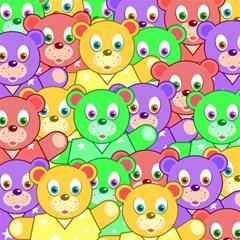 Cute Cartoon Crowd Of Colourful Kids Bears Magic Photo Cubes