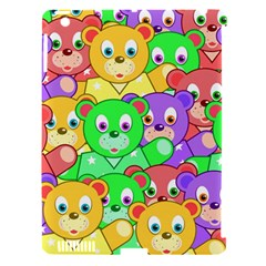 Cute Cartoon Crowd Of Colourful Kids Bears Apple iPad 3/4 Hardshell Case (Compatible with Smart Cover)