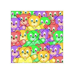 Cute Cartoon Crowd Of Colourful Kids Bears Acrylic Tangram Puzzle (4  X 4 )