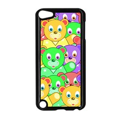Cute Cartoon Crowd Of Colourful Kids Bears Apple Ipod Touch 5 Case (black)