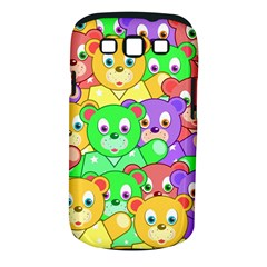 Cute Cartoon Crowd Of Colourful Kids Bears Samsung Galaxy S Iii Classic Hardshell Case (pc+silicone)