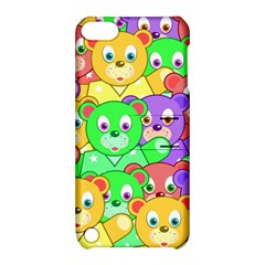 Cute Cartoon Crowd Of Colourful Kids Bears Apple iPod Touch 5 Hardshell Case with Stand