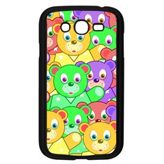 Cute Cartoon Crowd Of Colourful Kids Bears Samsung Galaxy Grand Duos I9082 Case (black)