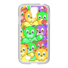 Cute Cartoon Crowd Of Colourful Kids Bears Samsung Galaxy S4 I9500/ I9505 Case (white)