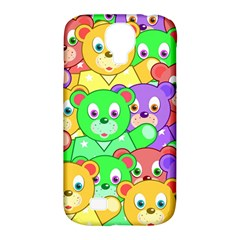 Cute Cartoon Crowd Of Colourful Kids Bears Samsung Galaxy S4 Classic Hardshell Case (pc+silicone)
