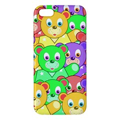 Cute Cartoon Crowd Of Colourful Kids Bears Iphone 5s/ Se Premium Hardshell Case