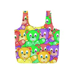 Cute Cartoon Crowd Of Colourful Kids Bears Full Print Recycle Bags (s)